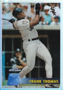 1996 Topps Chrome Refractor Frank Thomas