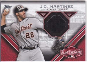 2015 Topps Update All-Star Stitch JD Martinez
