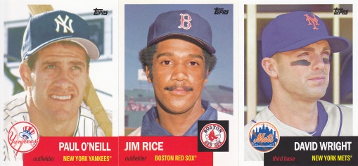 2016 Topps Archives 53 O'Neill Rice Wright