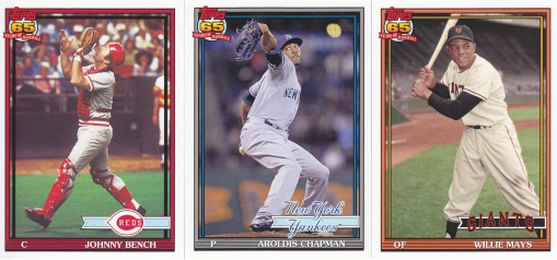 2016 Topps Archives 91 Bench Chapman Mays