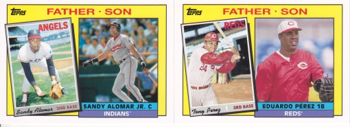 2016 Topps Archives Father Son Perez Alomar