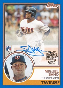 2016 Topps Archives FF Auto Miguel Sano 83