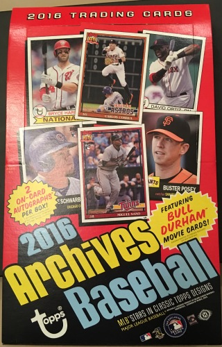 2016 Topps Archives hobby box