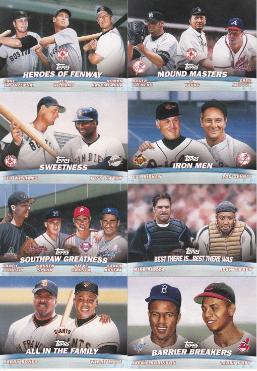 2001 Topps Combos complete horizontal 2