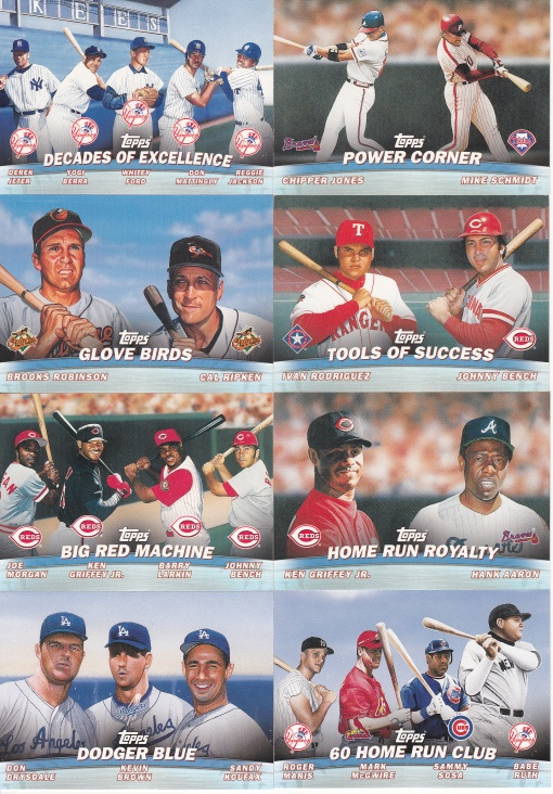 2001 Topps Combos complete horizontal