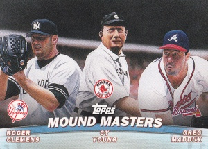 2001 Topps Combos Young Clemens Maddux