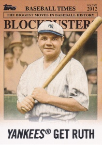2012 Topps Update Blockbusters Babe Ruth