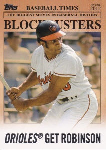 2012 Topps Update Blockbusters Frank Robinson