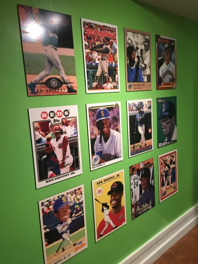 Griffey cards in display