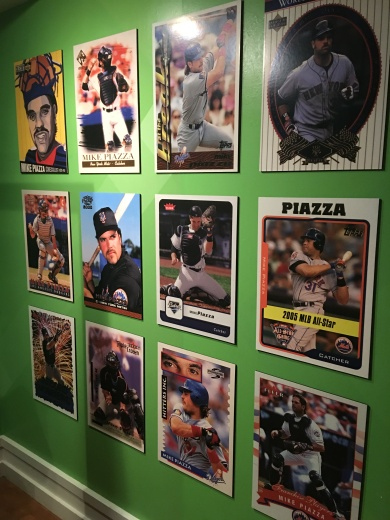 Piazza cards next to display