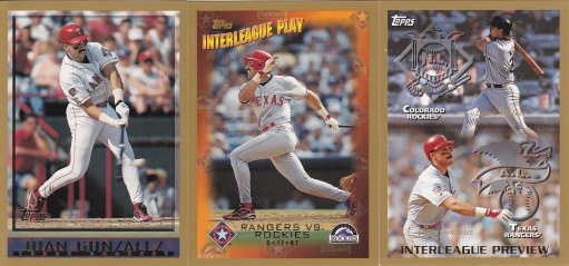 1998 Topps most cards - Juan Gonzalez