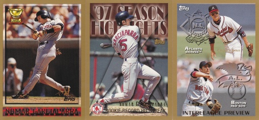 1998 Topps most cards - Nomar