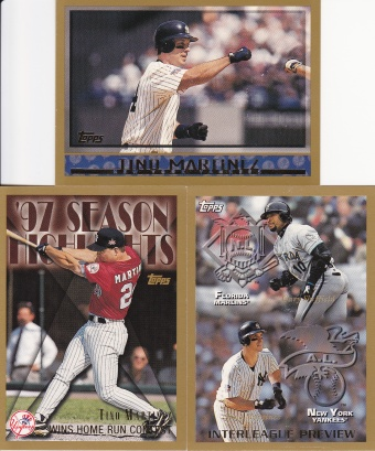 1998 Topps most cards - Tino Martinez