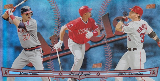 2013 Topps Archives Triumvirate Angels Trout Pujols Hamilton