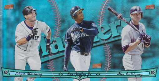 2013 Topps Archives Triumvirate Mariners Edgar Griffey A-Rod