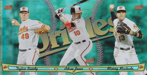 2013 Topps Archives Triumvirate Orioles Bundy Adam Jones Machado