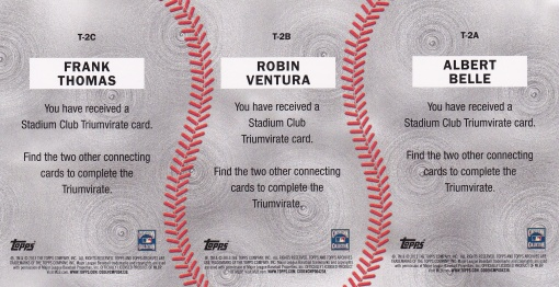 2013 Topps Archives Triumvirate White Sox back