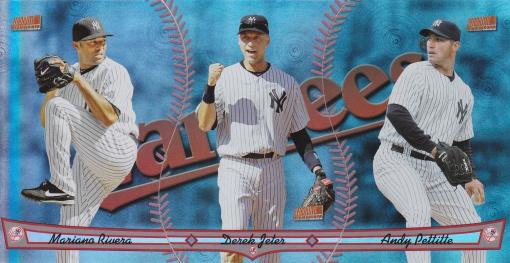 2013 Topps Archives Triumvirate Yankees Rivera Jeter Pettitte