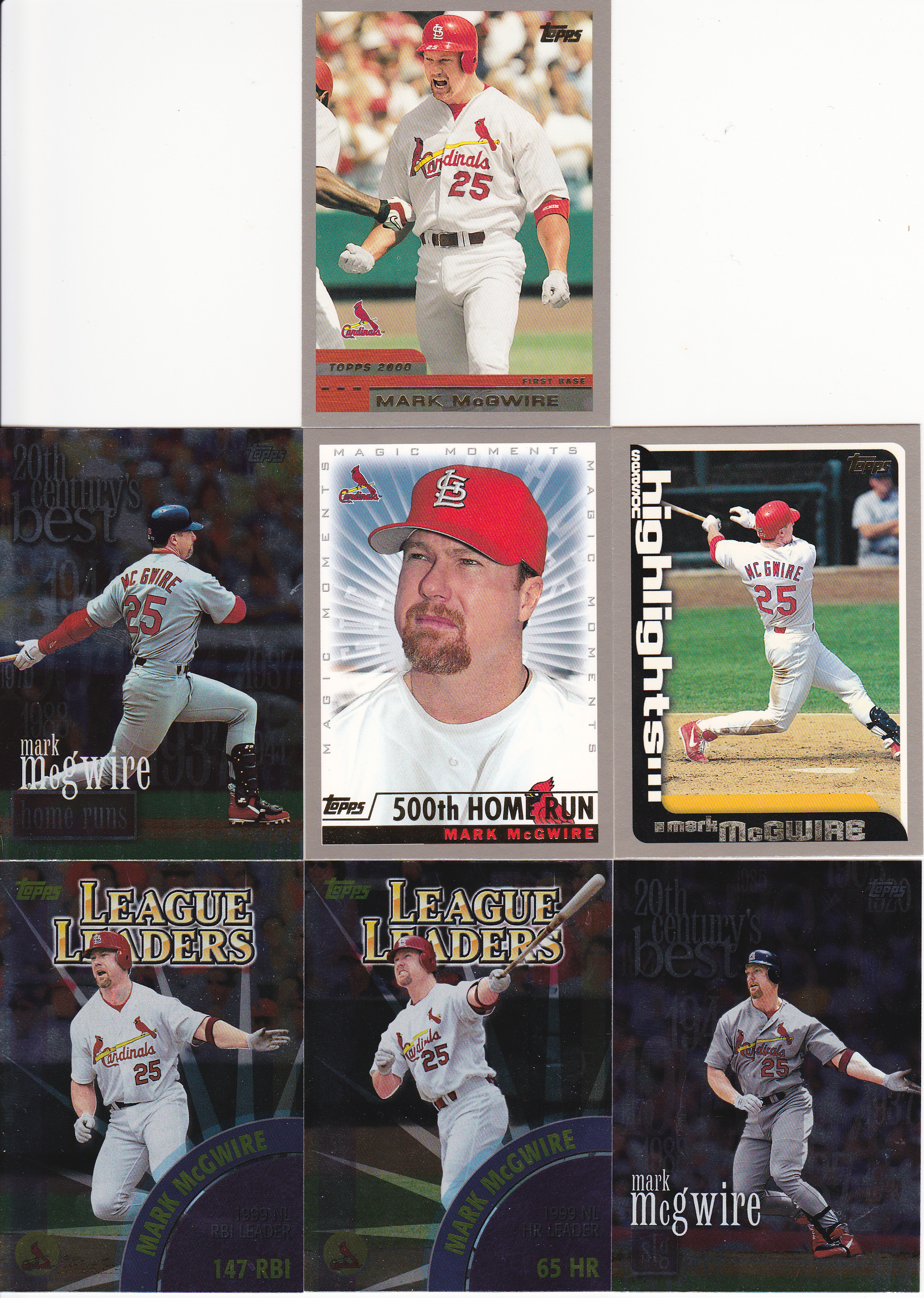 Completed Set 2000 Topps Lifetime Topps Project