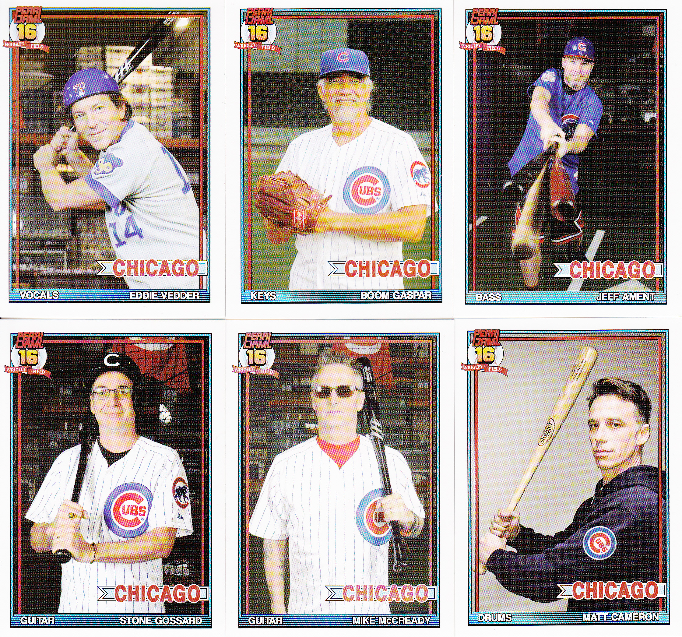 Pearl Jam 1991 Topps Style Wrigley Field Lifetime Topps Project
